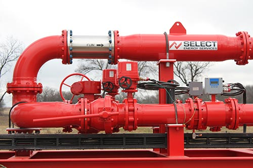 produced water proportioning system for frac reuse